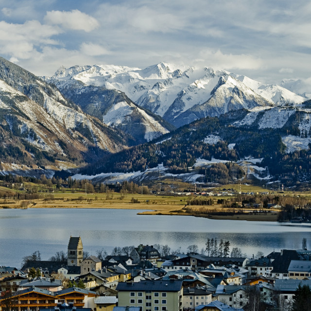 """View Over Zell Am See"" stock image"