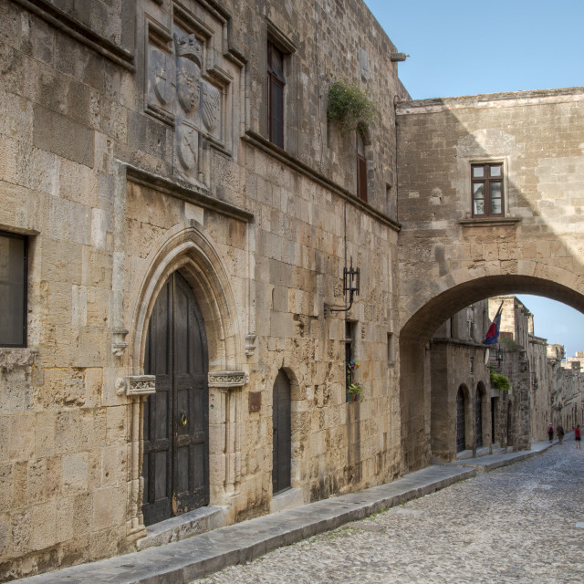 """""""Avenue of the Knights, Rhodes"""" stock image"""