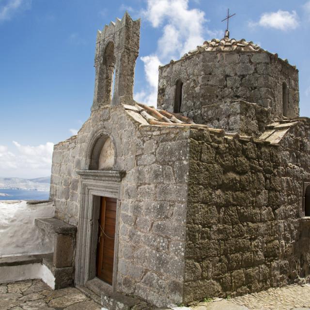 """Greek Chapel, Patmos"" stock image"