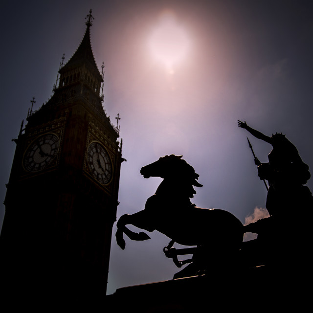 """Boadicea At Westminster"" stock image"