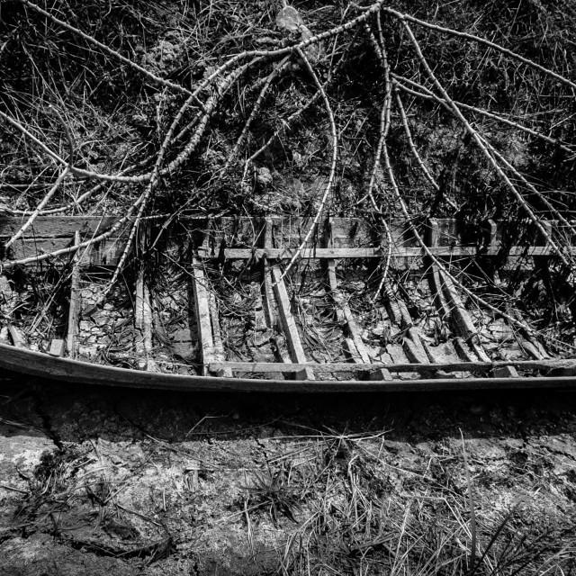 """""""Abandoned boat"""" stock image"""