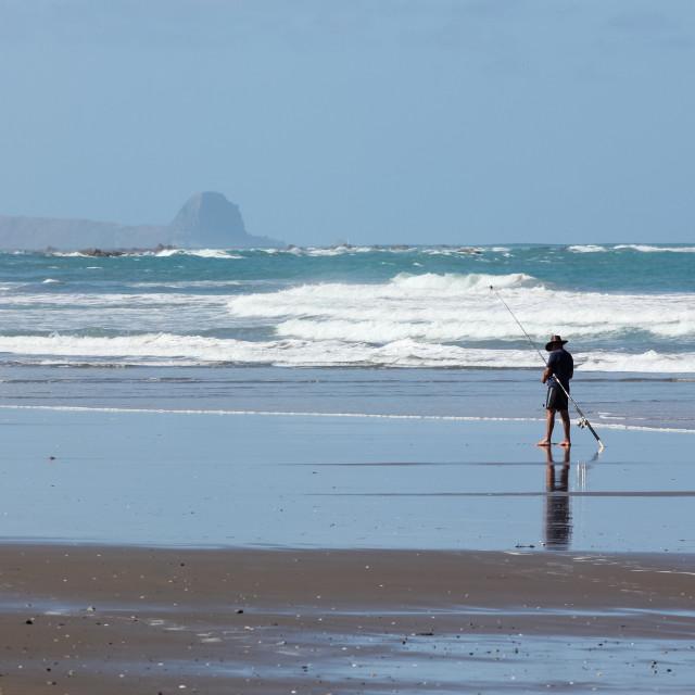 """""""beach fishing"""" stock image"""