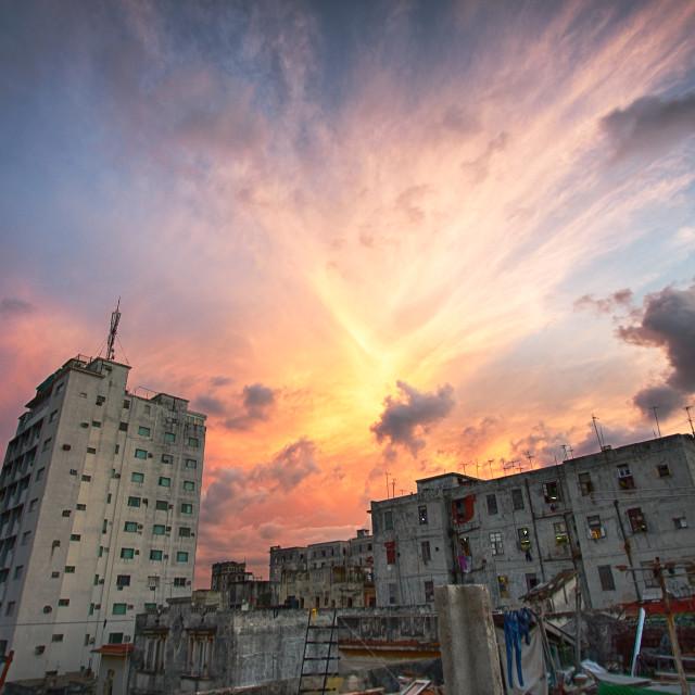 """Havana Sunset"" stock image"