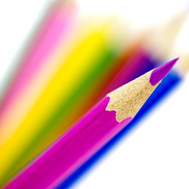 """Colored pencils set"" stock image"