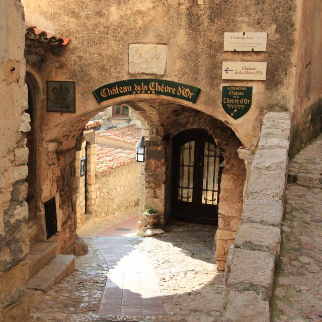 """""""Chateau de la Chèvre d'or"""" stock image"""