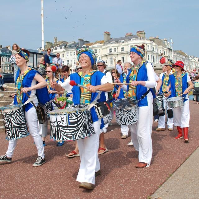 """""""Dende Nation samba drum troupe"""" stock image"""