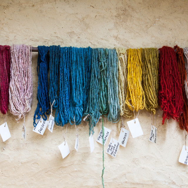 """Dyed in the Wool-1"" stock image"