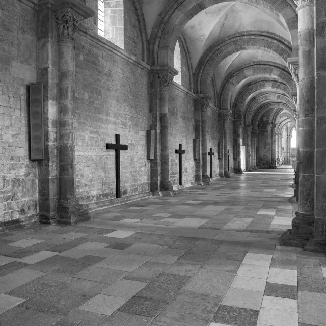 """Basilica of Vezelay, France"" stock image"