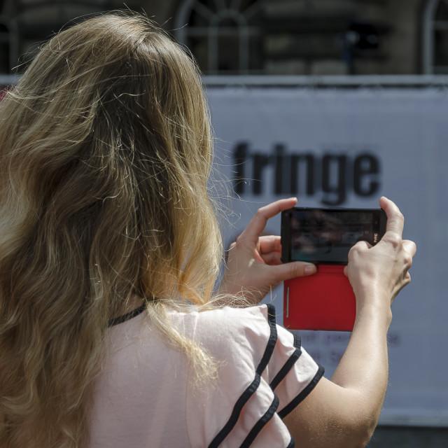 """""""Fringe Photographer"""" stock image"""
