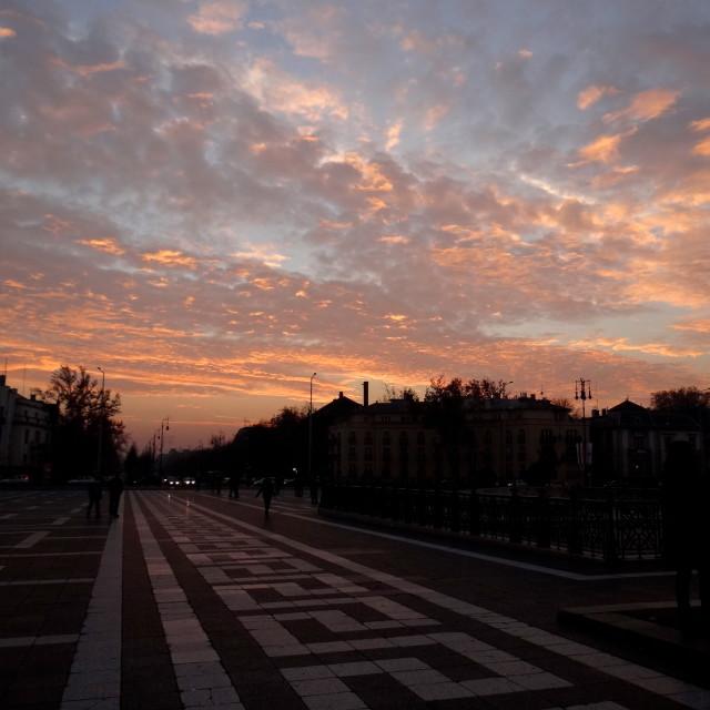 """""""Budapest Sunset"""" stock image"""