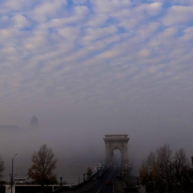 """Sky over Budapest"" stock image"
