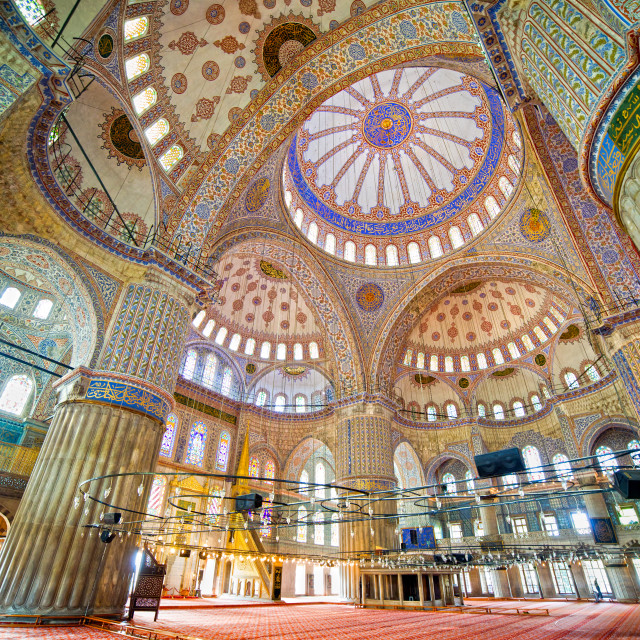 """Blue Mosque Interior"" stock image"