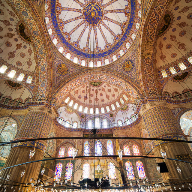 """Blue Mosque Interior"" stock image"