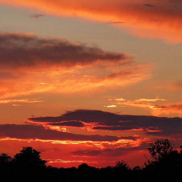 """Grundisburgh Sunset"" stock image"