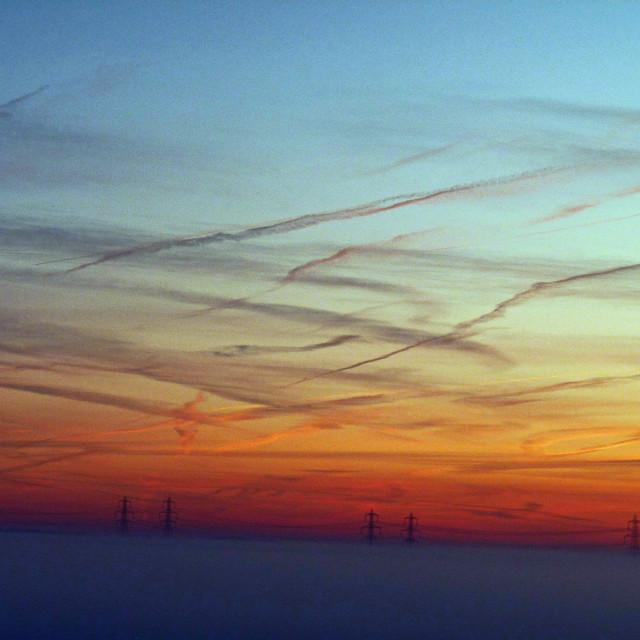 """Vibrant Suffolk Sky"" stock image"