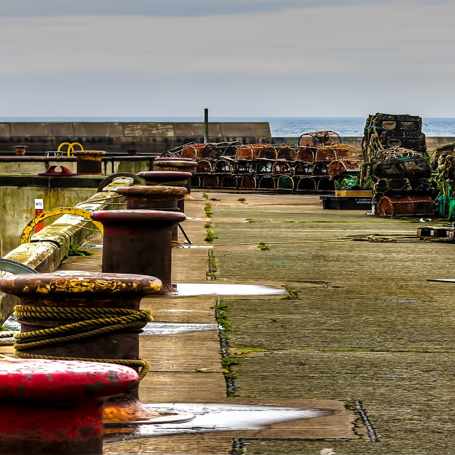 """Along the Harbour Seahouses"" stock image"
