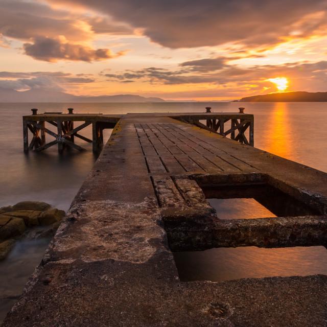 """""""Silky Seas, Scotland"""" stock image"""