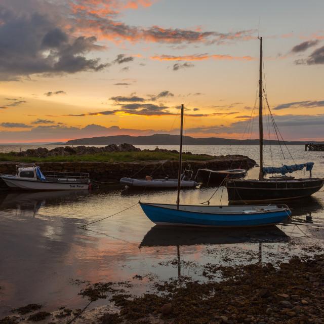"""Boats of Portencross"" stock image"