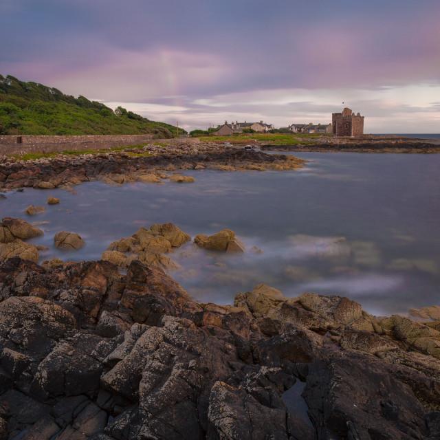 """Portencross harbour, Scotland"" stock image"