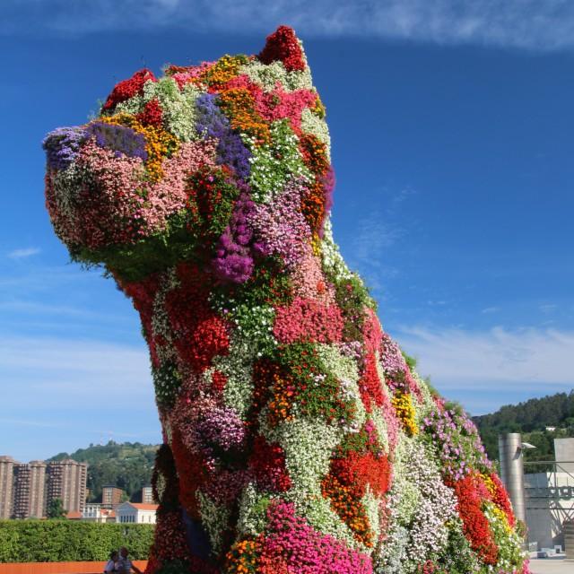 """""""'Puppy'. Guggenheim Museum, Bilbao"""" stock image"""