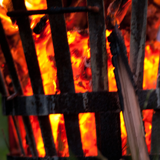 """Fire Basket"" stock image"