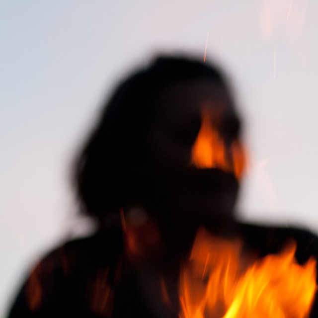 """Fire silouette"" stock image"