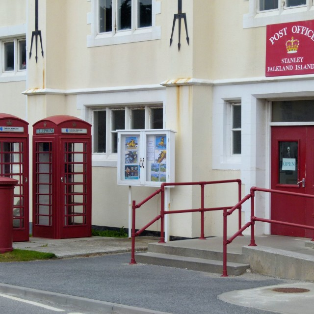 """Falklands Post Office"" stock image"