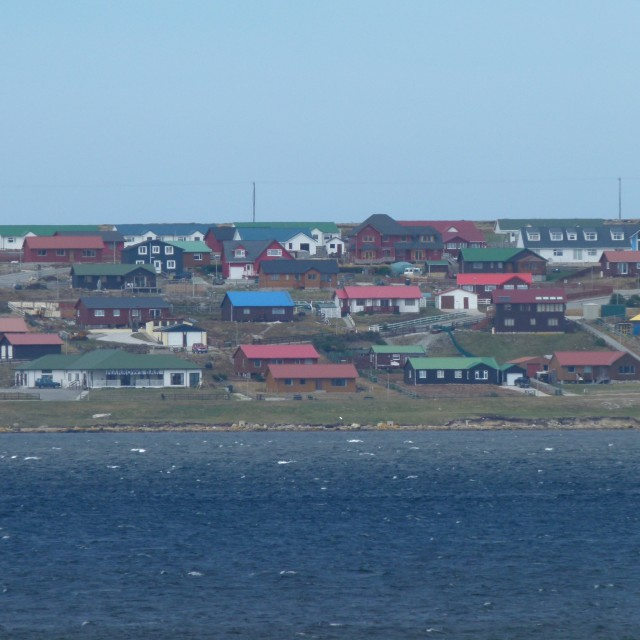 """Falklands houses"" stock image"