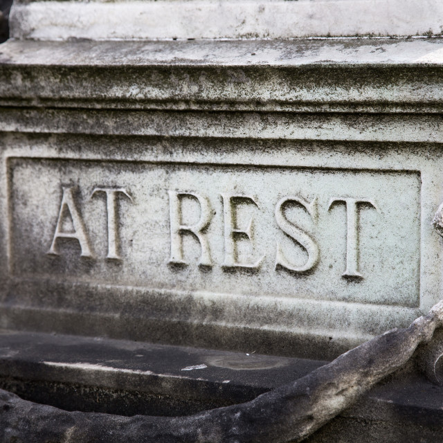 """""""At Rest"""" stock image"""