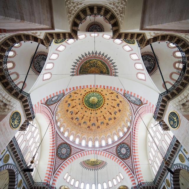 """""""Suleymaniye Mosque Ceiling"""" stock image"""