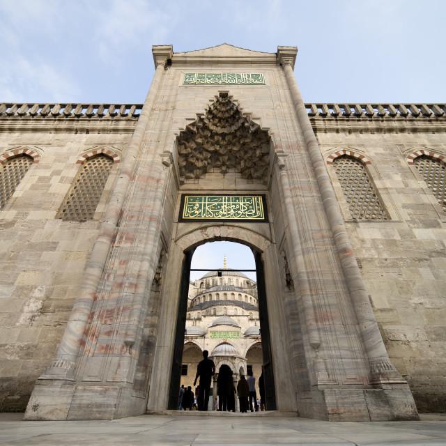 """Blue Mosque Entrance"" stock image"