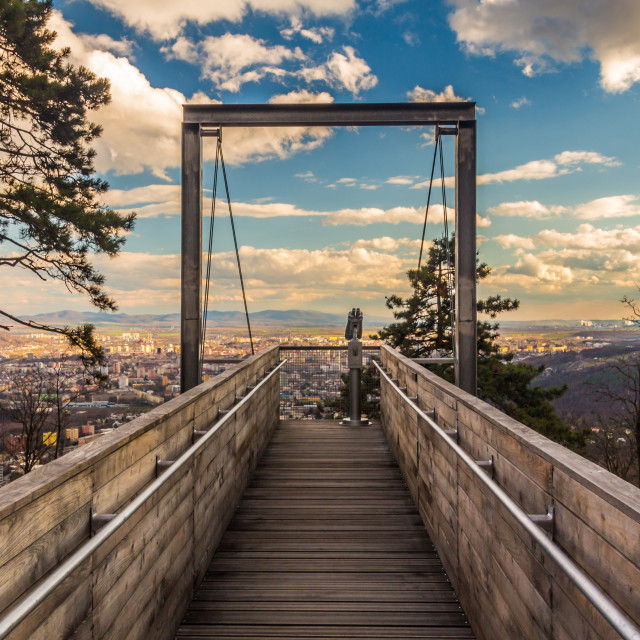 """""""View over the city"""" stock image"""