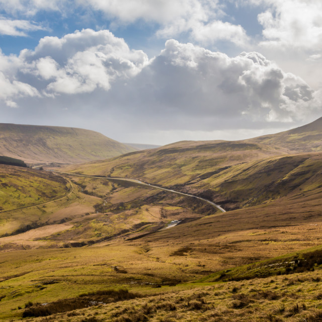 """Valley in Brecon Beacons national park"" stock image"