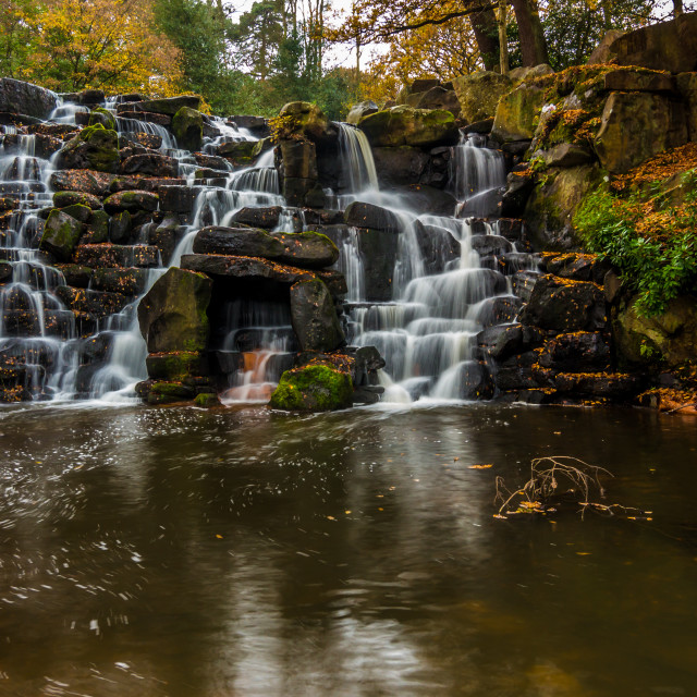 """""""The waterfall at Virginia Waters"""" stock image"""