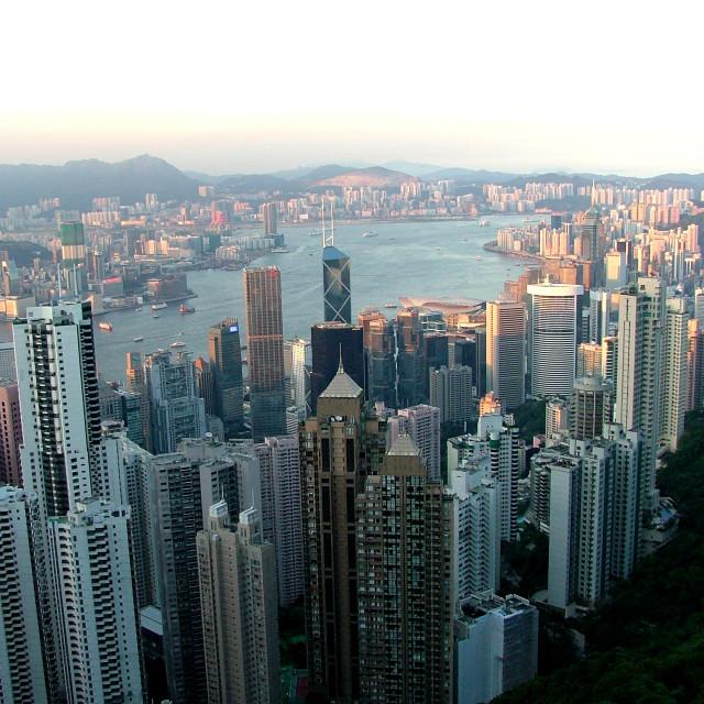 """""""Hong Kong Dusk"""" stock image"""