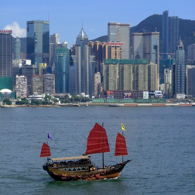"""Hong Kong Sampan"" stock image"