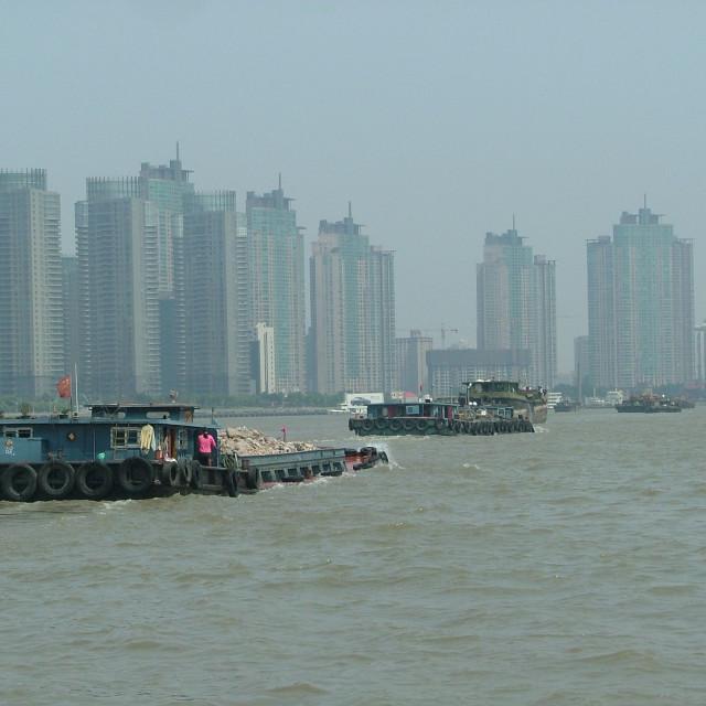"""Huangpu River Shanghai"" stock image"