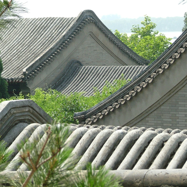 """""""Roofs Summer Palace Beijing"""" stock image"""
