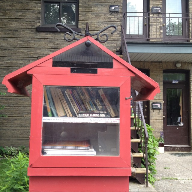 """Miniature free Library"" stock image"