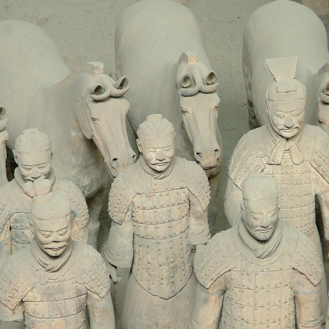 """Warriors Xian"" stock image"