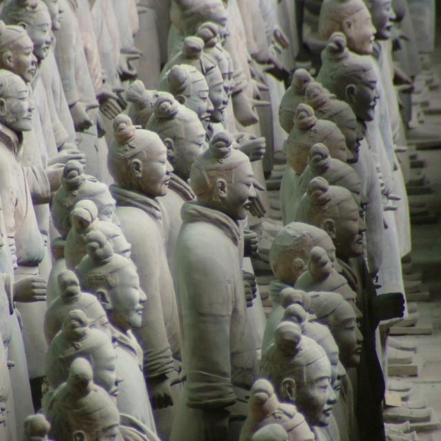 """Terracotta Warriors all in a row"" stock image"
