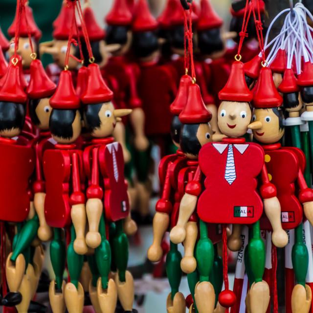 """Pinocchio puppets"" stock image"