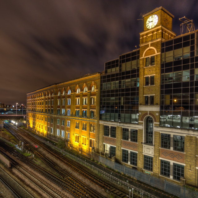 """Old storage building in Kensington"" stock image"
