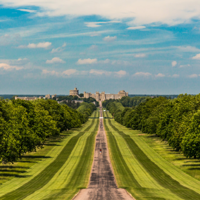 """""""Long walk to the castle"""" stock image"""