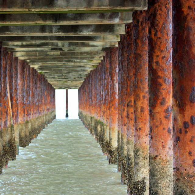 """under the pier"" stock image"
