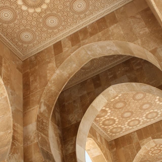 """Casablanca mosque ornate ceiling"" stock image"