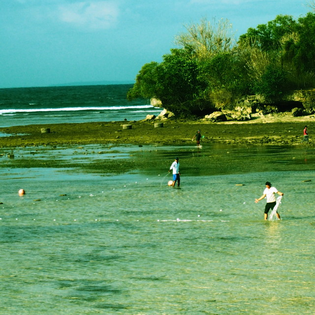 """""""Balinese fishermen"""" stock image"""