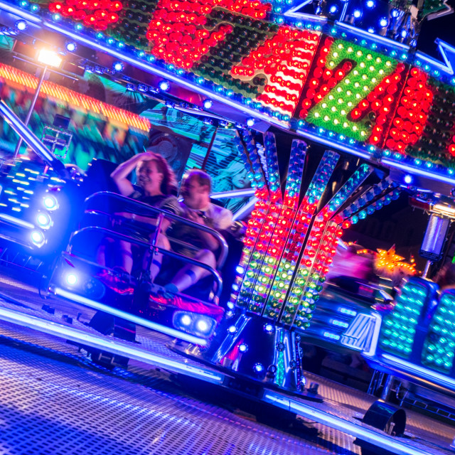 """Fairground lights"" stock image"