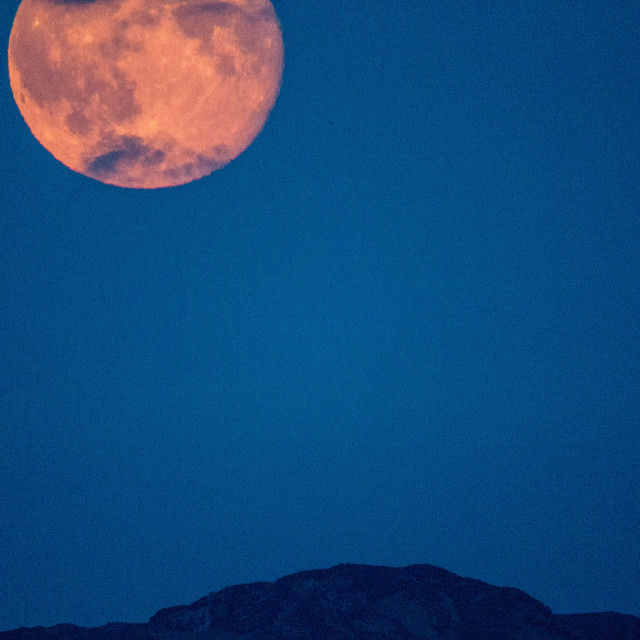 """Super Moon 11/08/14 Snowdonia"" stock image"