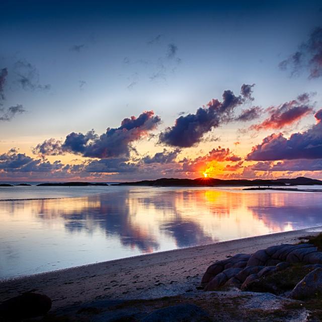 """Sunset in Ireland"" stock image"